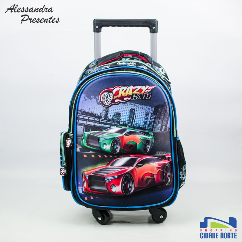 Mochila Crazy Car da Alessandra Presentes: R$ 180,00